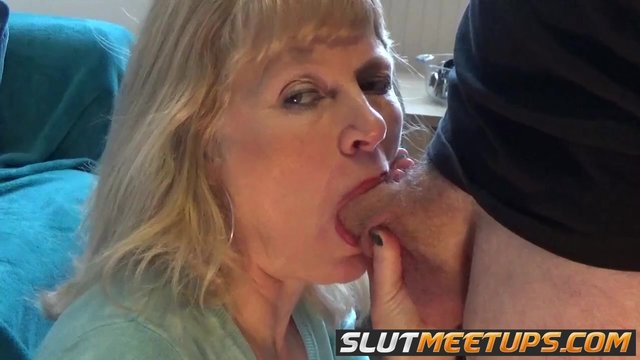 Blowjob mature blonde