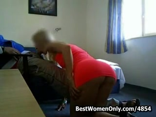 Fucking A Whore Red Dressed Blonde In Motel Spycam Porn Video